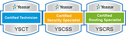 Yeastar Certified Specialist YSCT Security Specialist YSCSS Routing Specilist YSCRS