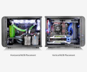 Core V21 offre la possibilità di montare MB in verticale oppure orizzontale